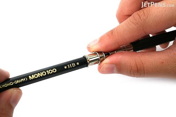 E+M Peanpole Wood Pencil Extender - Black - E+M FSC 1155-20