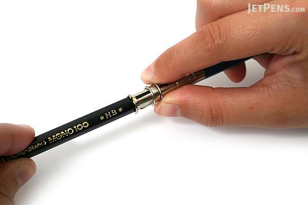 E+M Peanpole Wood Pencil Extender - Blue - E+M FSC 1155-24