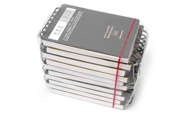 "Maruman Mnemosyne Roots Notepad - A7 (4.1"" X 2.9"") - 5 mm X 5 mm Graph - 70 Sheets - Bundle of 10 - MARUMAN N184 BUNDLE"