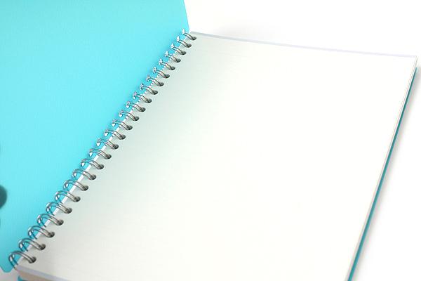 Maruman Sept Couleur Notebook - A5 - 7 mm Rule - 26 Lines - 80 Sheets - Teal - Bundle of 5 - MARUMAN N572-52 BUNDLE