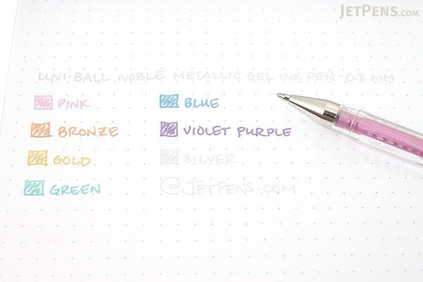 Uni-ball Signo Noble Metal Metallic UM-120NM Gel Pen - 0.8 mm - Blue - UNI UM120NM.33