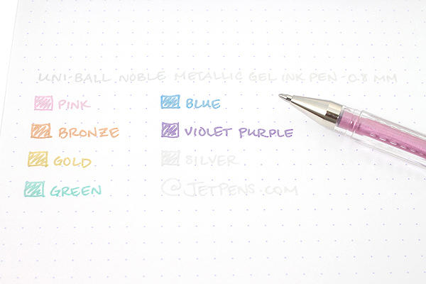 Uni-ball Signo Noble Metal Metallic UM-120NM Gel Pen - 0.8 mm - Blue - UNI UM120NM.33