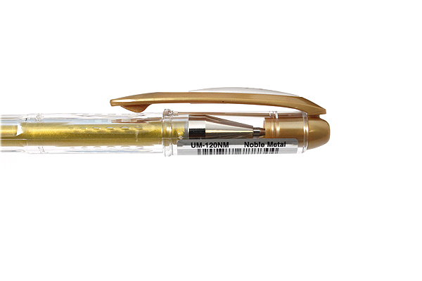 Uni-ball Signo Noble Metal Metallic UM-120NM Gel Pen - 0.8 mm - Gold - UNI UM120NM.25