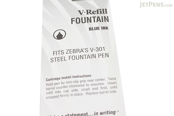 Zebra Blue Fountain Pen Ink  - 2 Cartridges - ZEBRA 87722