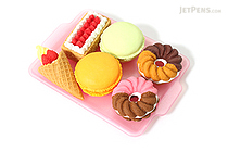 Iwako Donuts and Sweets Novelty Eraser - 6 Piece Set - IWAKO ER-BRI019