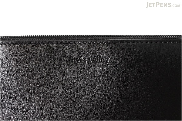 Raymay Style Valley Leatherette Pencil Case - Flat Shape - Black - RAYMAY FD11B