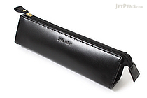 Raymay Style Valley Leatherette Pencil Case - Triangular Shape - Black - RAYMAY FD12B