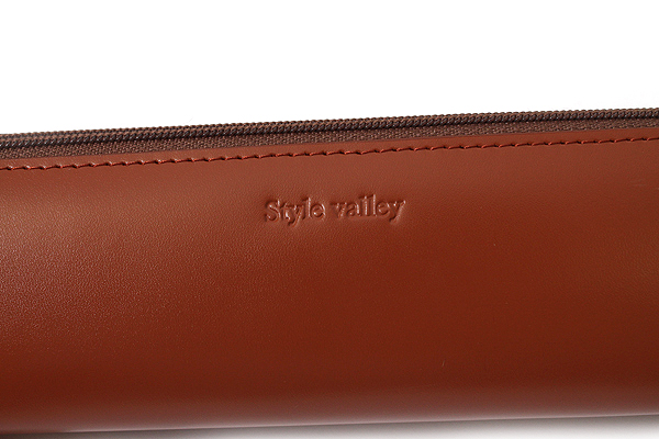 Raymay Style Valley Leatherette Pencil Case - Triangular Shape - Brown - RAYMAY FD12C