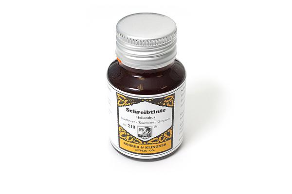 Rohrer & Klingner Writing Ink - 50 ml Bottle - Helianthus (Sunflower Yellow) - ROHRER-KLINGNER 40 210 050