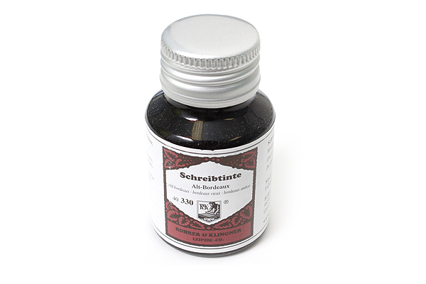 Rohrer & Klingner Writing Ink - 50 ml Bottle - Alt-Bordeaux (Old Bordeaux Red) - ROHRER-KLINGNER 40 330 050
