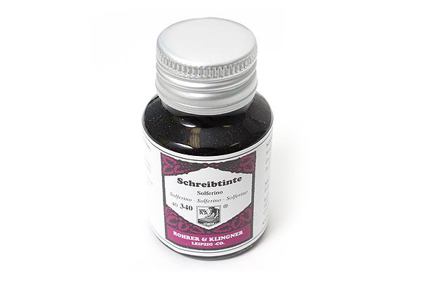 Rohrer & Klingner Writing Ink - 50 ml Bottle - Soliferno (Solferino Purple) - ROHRER-KLINGNER 40 340 050