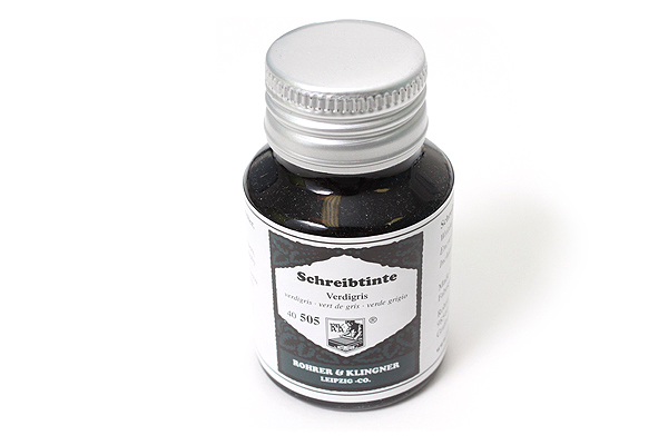Rohrer & Klingner Writing Ink - 50 ml Bottle - Verdigris (Verdigris Green) - ROHRER-KLINGNER 40 505 050