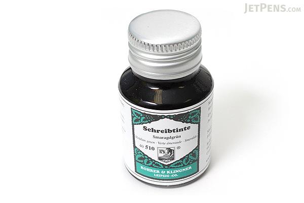 Rohrer & Klingner Writing Ink - 50 ml Bottle - Smaragdgrün (Viridian Green) - ROHRER-KLINGNER 40 510 050