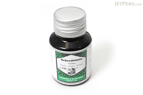 Rohrer & Klingner Writing Ink - 50 ml Bottle - Verdura (Verdure Green) - ROHRER-KLINGNER 40 520 050