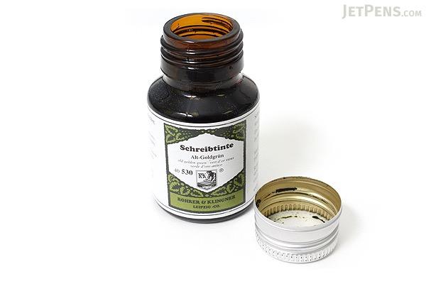 Rohrer & Klingner Writing Ink - 50 ml Bottle - Alt-Goldgrün (Old Golden Green) - ROHRER-KLINGNER 40 530 050