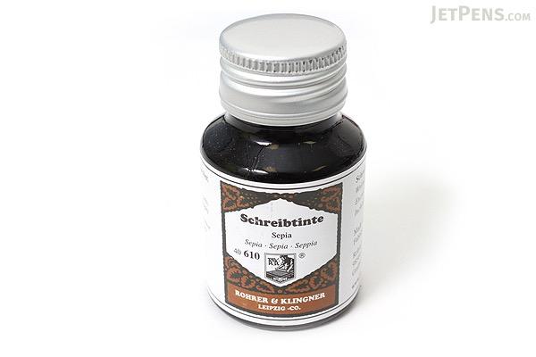 Rohrer & Klingner Writing Ink - 50 ml Bottle - Sepia (Sepia Brown) - ROHRER-KLINGNER 40 610 050