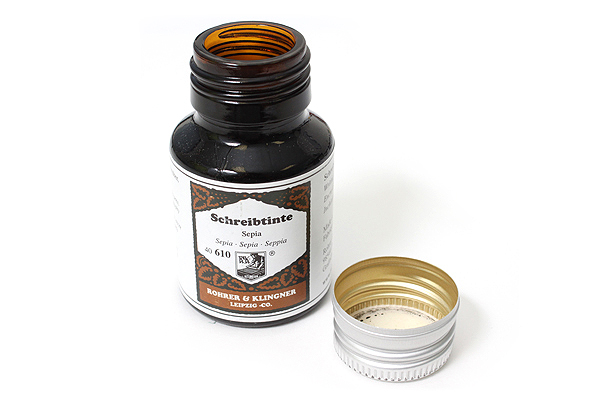 Rohrer & Klingner Writing Ink - 50 ml Bottle - Sepia (Sepia Brown) - ROHRER-KLINGNER 40 610 050
