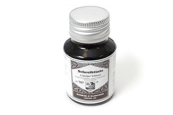 Rohrer & Klingner Writing Ink - 50 ml Bottle - Leipziger Schwarz (Leipsician Black) - ROHRER-KLINGNER 40 707 050
