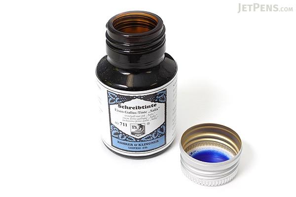 Rohrer & Klingner Writing Ink - 50 ml Bottle - Eisen-Gallus-Tinte Salix (Iron/Gall Nut-ink Salix Blue) - ROHRER-KLINGNER 40 711 050