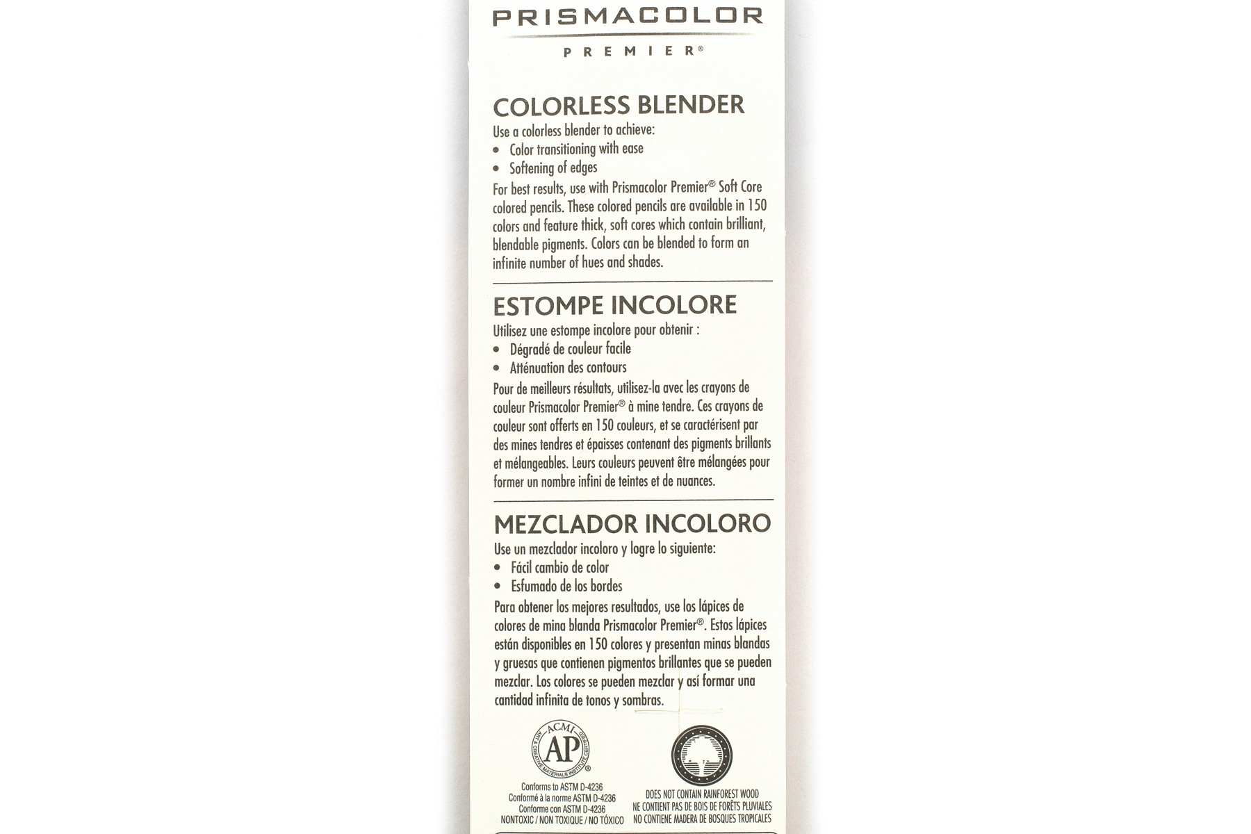 Prismacolor Premier Colorless Blender Pencil - Pack of 2 - PRISMACOLOR 962