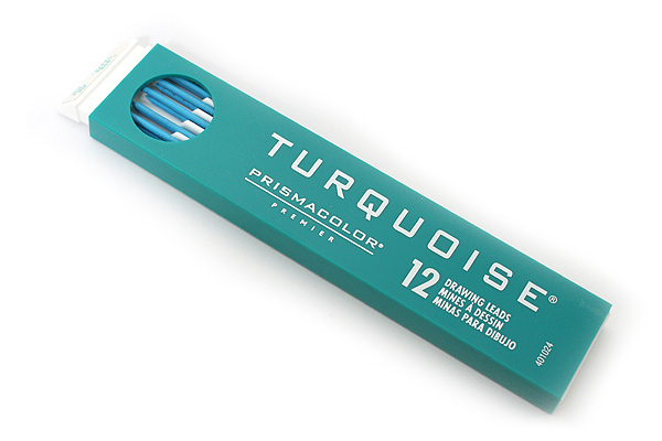 Prismacolor Turquoise Non-Photo Drawing Leads - 2 mm - Blue - Pack of 12 - PRISMACOLOR 02192