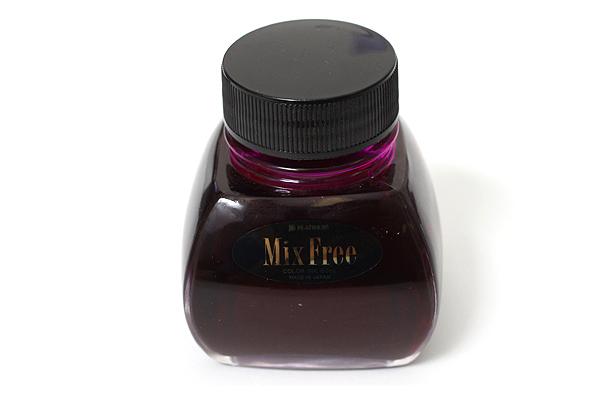 Platinum Mix Free Fountain Pen Ink - 60 ml Bottle - Silky Purple - PLATINUM INKM-1200 28