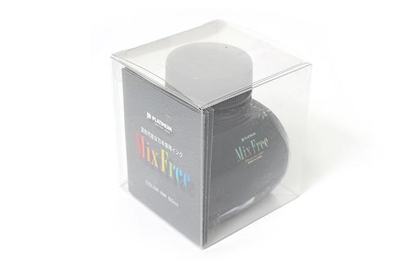 Platinum Mix Free Fountain Pen Ink - 60 ml Bottle - Smoke Black - PLATINUM INKM-1200 1