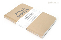 "Field Notes Memo Book - Original Cover - 3.5"" X 5.5"" - 48 Pages - 5 mm Graph - Pack of 3 - FIELD NOTES FN-01"