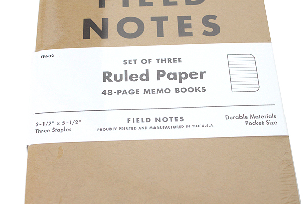 """Field Notes Memo Book - Original Cover - 3.5"""" X 5.5"""" - 48 Pages - 6.5 mm Rule - Pack of 3 - FIELD NOTES FN-02"""