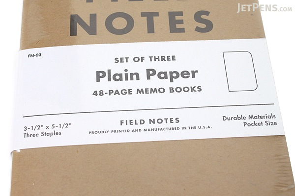 "Field Notes Memo Book - Original Cover - 3.5"" X 5.5"" - 48 Pages - Blank - Pack of 3 - FIELD NOTES FN-03"