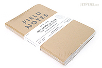"Field Notes Memo Book - Original Cover - 3.5"" X 5.5"" - 48 Pages - Mixed - Pack of 3 - FIELD NOTES FN-04"