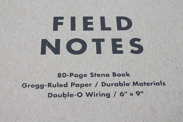 """Field Notes Steno Pad with Double-O Wiring - Original Cover - 6"""" X 9"""" - 80 Pages - Gregg Rule - Bundle of 3 - FIELD NOTES FN-07 BUNDLE"""