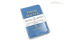 "Field Notes Color Cover Memo Book - County Fair - 3.5"" x 5.5"" - 48 Pages - 5 mm Graph - Pack of 3 - California - FIELD NOTES FN-01A-CA"