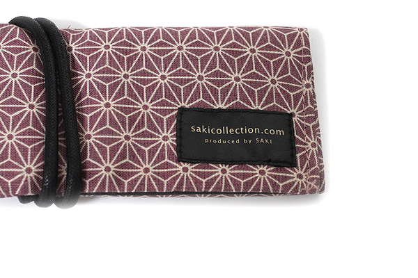 Saki P-661 Roll Pen Case with Traditional Japanese Fabric - Purple - SAKI 661107