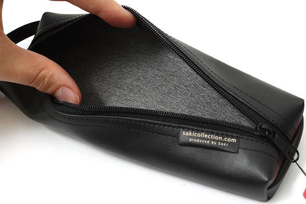 Saki P-676 Leatherette Pen Case with Handle - Black - SAKI 676019