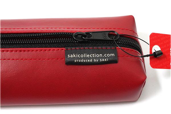 Saki P-676 Leatherette Pen Case with Handle - Red - SAKI 676156