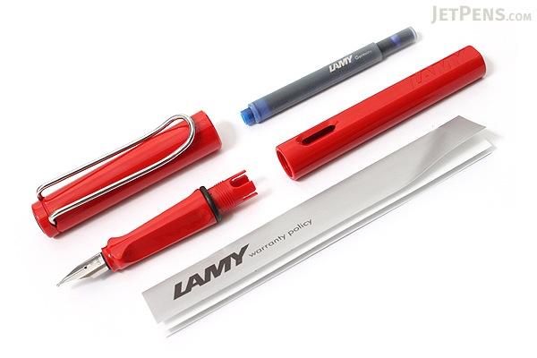 Lamy Safari Fountain Pen - Red - Broad Nib - LAMY L16B