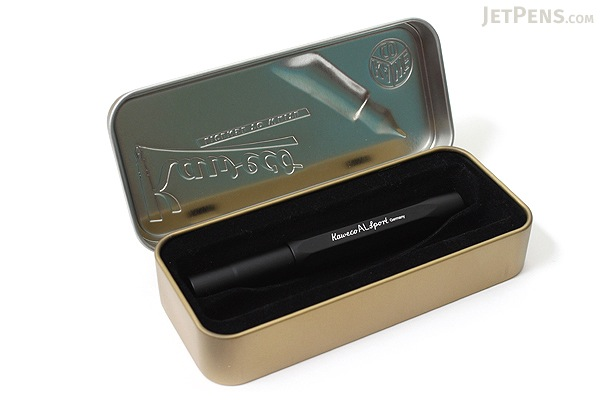 Kaweco AL Sport Fountain Pen - Black - Extra Fine Nib - KAWECO 10000429