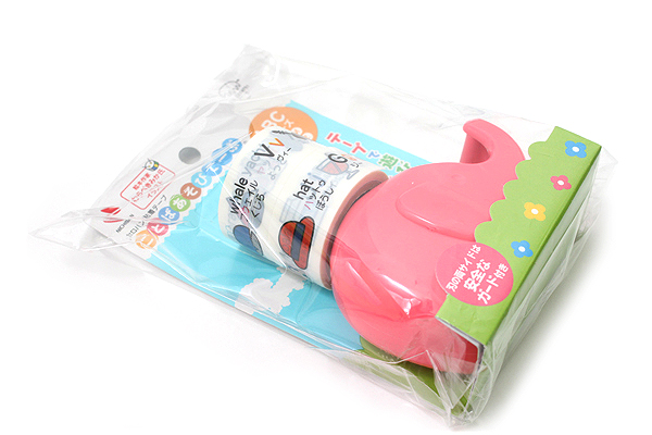 Nichiban Word Play Children's Tape - ABC Series - Pink - 18 mm X 5 m - Dispenser + 2 Tape Rolls - NICHIBAN KA-18DBR