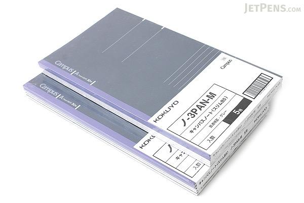Kokuyo Campus Notebook - Slim B5 - 7 mm Rule - 30 Sheets - Blue Gray - Bundle of 10 - KOKUYO NO-3PA-M BUNDLE