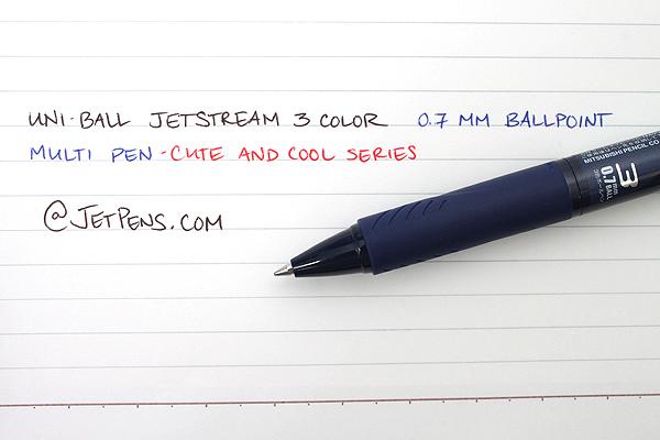 Uni Jetstream 3 Color 0.7 mm Ballpoint Multi Pen - Cute and Cool Series - Cool Navy Blue Body - UNI SXE340007.CN