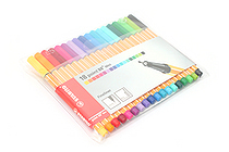 Stabilo Point 88 Mini Fineliner Marker Pen - 0.4 mm - 18 Color Set - Wallet - STABILO SW688-18-1