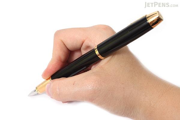 Parker IM Fountain Pen with Gold Trim - Black - Medium Nib - PARKER 1760800