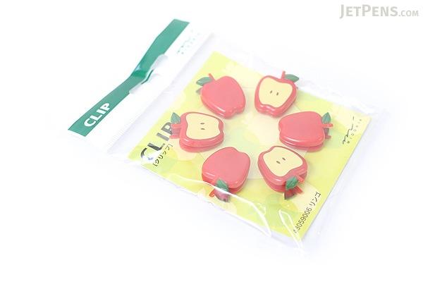 Midori Clip - Apple - Pack of 6 - MIDORI 230151