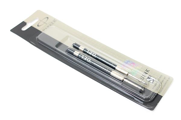 Parker Gel Pen Refill - Medium Point - Black - Pack of 2 - PARKER 30525PP