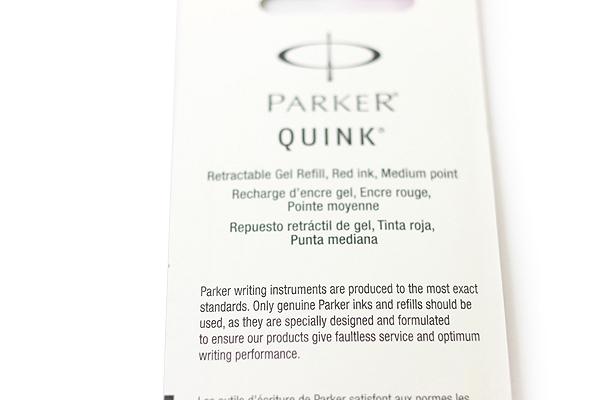 Parker Gel Pen Refill - Medium Point - Red - Pack of 2 - PARKER 30529