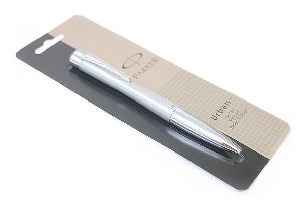 Parker Urban Gel Pen - Medium Point - Silver Body - Black Ink - SANFORD 1750471