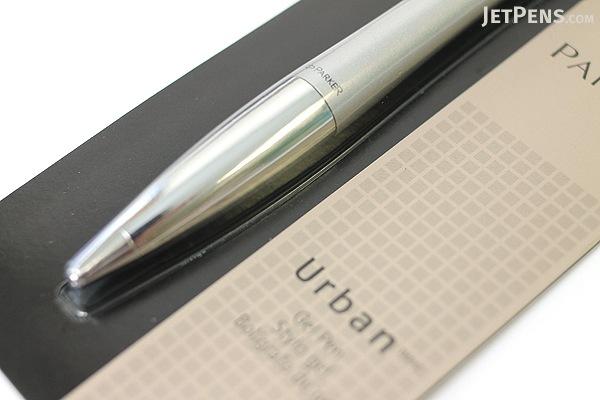 Parker Urban Gel Pen - Medium Point - Silver Body - Black Ink - PARKER 1750471