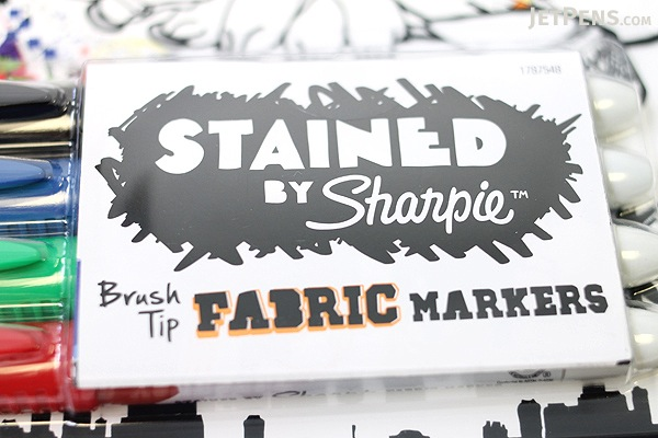 Sharpie Stained Fabric Brush Tip Markers - 4 Color Set - SANFORD 1779004