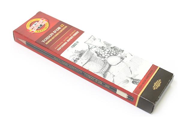 Koh-I-Noor Toison D'or Graphite Pencil - H - Pack of 12 - KOH-I-NOOR FA1900.H